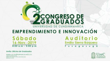 Noviembre 16   Segundo Congreso de Graduados UCundinamarca – Emprendimiento e Innovación